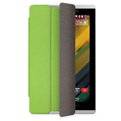Hp tablet case: Slate 7 VoiceTab Green Flip Cover - Groen