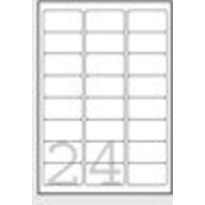 Avery etiket: White Heavy Duty Labels - Laser - L4773 - Wit