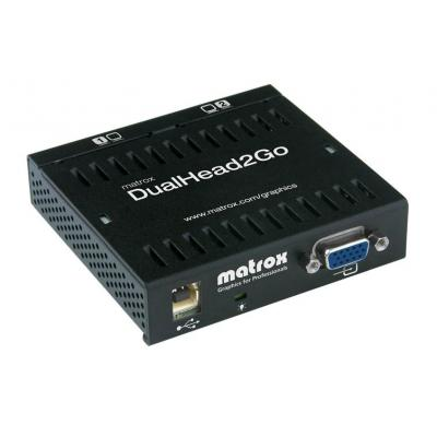Matrox video splitter: DualHead2Go Analog Edition - Zwart