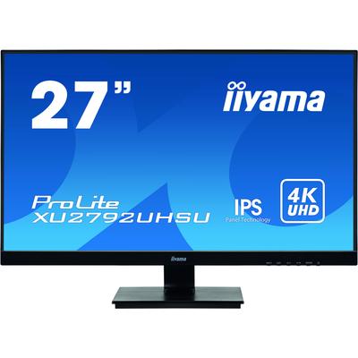 "Iiyama ProLite 27"", 3840x2160, IPS, LED, 16:9, DVI, HDMI, DP, USB, HDCP, RMS 2x 2W, 613.5x440.5x197 mm Monitor - ....."