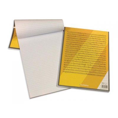 Aurora schrijfblok: Schrijfblok A4 rt 4x8 Burocl 100v/pk10
