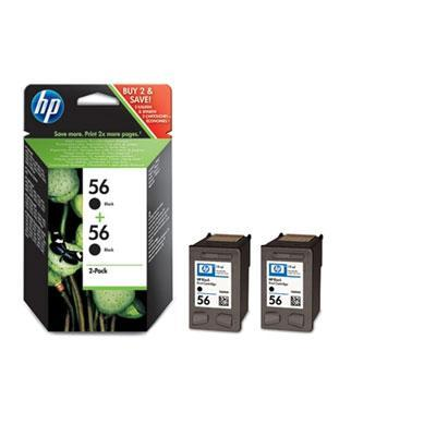 HP inktcartridge: 56 originele zwarte inktcartridges, 2-pack