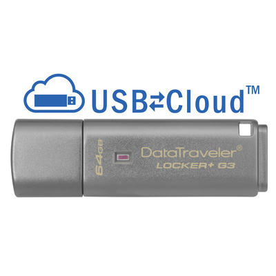 Kingston Technology DataTraveler Locker+ G3 64GB USB flash drive - Zilver