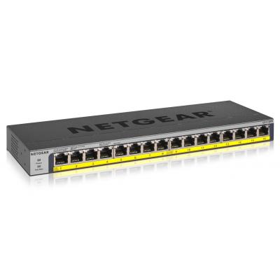 Netgear GS116PP Switch - Zwart