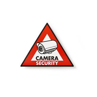 Nedis Warning Sticker, Camera Security symbol waarschuwingsbord - Zwart, Rood, Wit