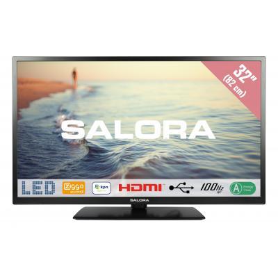 """Salora : 5000 series Een 32HLB5000 32"""" (82CM) CI+ LED TV met 100Hz BPR en USB mediaspeler - Zwart"""