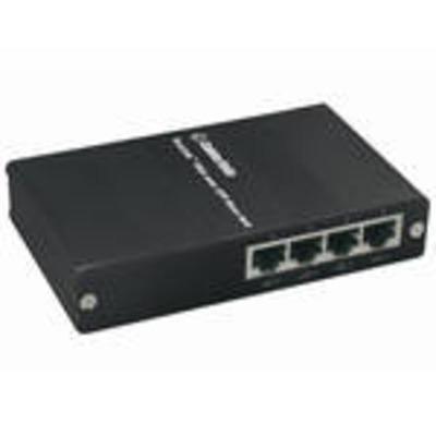 C2G TruLink® 4-Port VGA Over Cat5 Extender - Base Unit Video splitter - Zwart