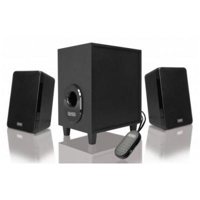 Sweex luidspreker set: 2.1 Speaker Set 80 Watt - Zwart