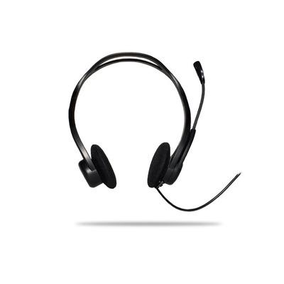 Logitech headset: 960 USB - Zwart