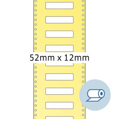 Herma etiket: Roll labels thermotransfer 52x12 mm white paper semigloss 5000 pcs. - Wit