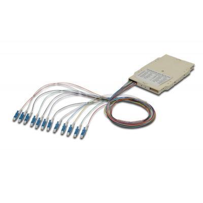 ASSMANN Electronic Professional Splice cassette with 12 pigtails, pre-assembled, LC, OM3 Fiber optic .....