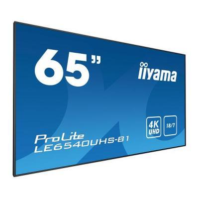 "Iiyama 164.084 cm (64.6"") , 3840 x 2160, 4K UHD, 16:9, 350 cd/m², 8 ms, AMVA3 LED, matte finish, VGA, HDMI, ....."