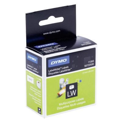 Dymo etiket: LabelWriter Multipurpose Labels - Zwart, Wit