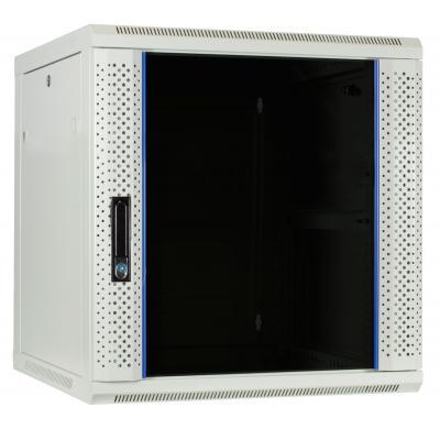 DS-IT 12U witte wandkast met glazen deur 600x600x635mm Stellingen/racks