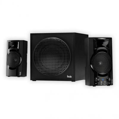 Hercules luidspreker set: XPS 2.1 Bassboost - Zwart