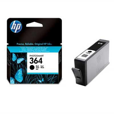 Hp inktcartridge: 364 originele zwarte inktcartridge