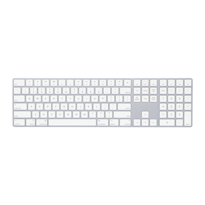 Apple toetsenbord: Magic Keyboard met numeriek toetsenblok - Internationaal Engels - Wit, QWERTY