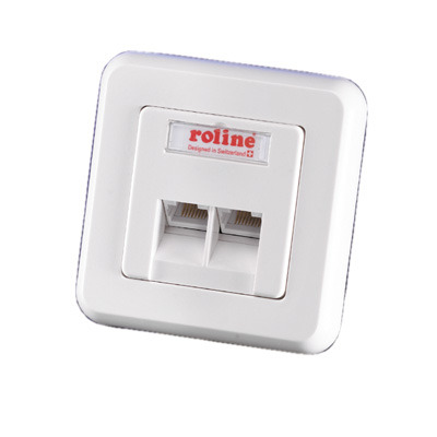 ROLINE Faceplate for Flush Mount Wall Jack white Patch panel - Wit