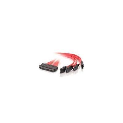 C2g kabel: 1m SAS/SATA Cable - Rood