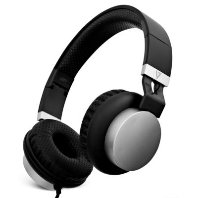 V7 HA601-3EP Headset - Zwart, Zilver