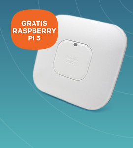 Cisco Aironet 3502i met gratis raspberry pi 3