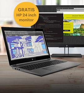 HP ZBOOK 15 + NVIDIA T1000 bundel met gratis 24 monitor