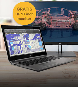 HP ZBook 15 + NVIDIA T2000 bundel met gratis 27 monitor