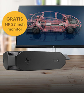 HP Z2 G4 Mini + NVIDIA P1000 bundel met gratis 27 monitor