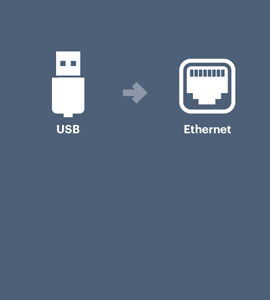 USB naar ethernet