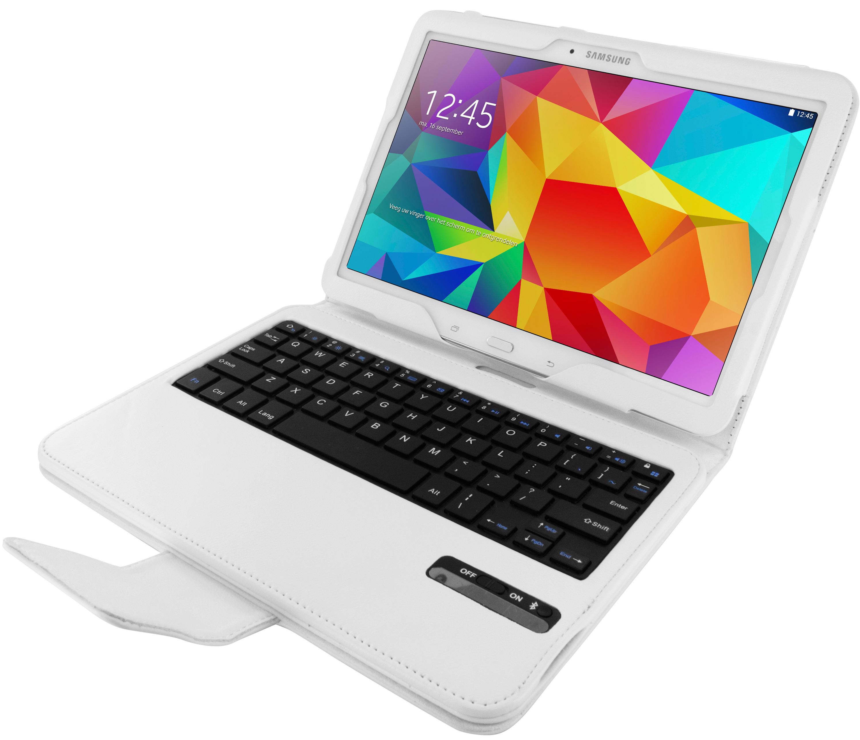 Mobiparts Bluetooth Keyboard Case Galaxy Tab 4 10.1 White