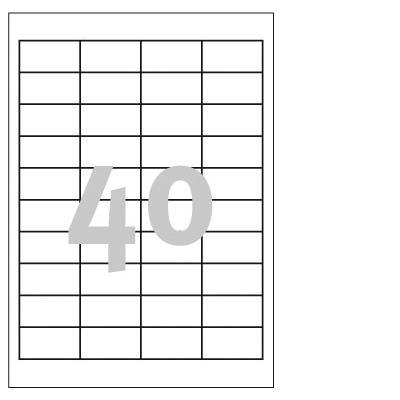 Avery 3657 etiket