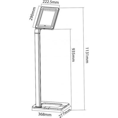 Techly ICA-TBL 1501 Veiligheidsbehuizingen voor tablets
