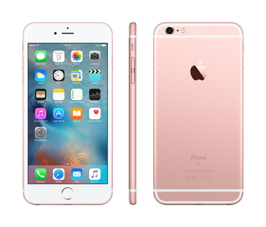 apple smartphone iphone 6s plus 128gb rose gold mkug2zd a kopen online bestellen altijd. Black Bedroom Furniture Sets. Home Design Ideas