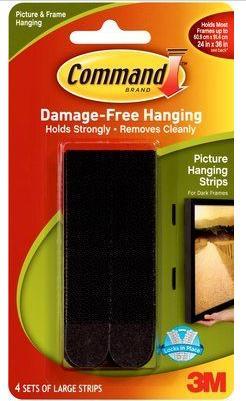 Command Large Picture Hanging Strips Black 4pk 17206blk Kopen
