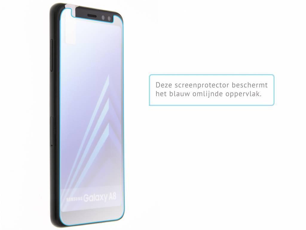 Gehard Glas Screenprotector.Gehard Glas Screenprotector Samsung Galaxy A8 2018 Screenprotector Transparant