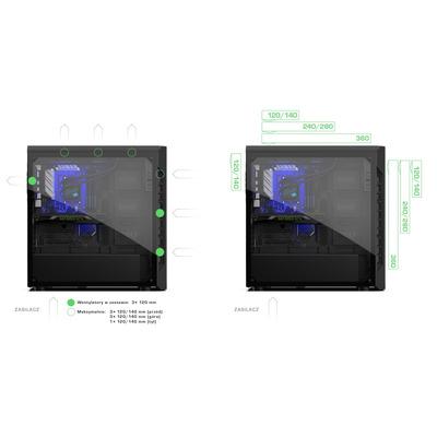 SilentiumPC SPC221 computerbehuizingen