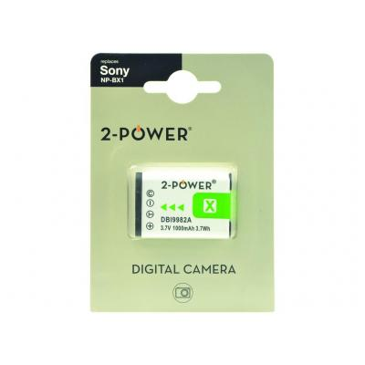 2-Power DBI9982A Batterijen voor camera's/camcorders
