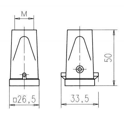 Amphenol C14630R0036004 multipolaire connector-behuizing