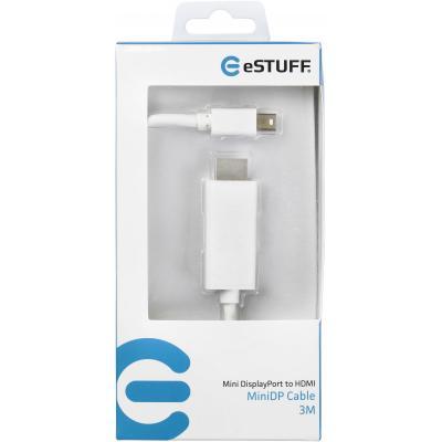 eSTUFF ES84275-3M-WHITE video kabel adapters