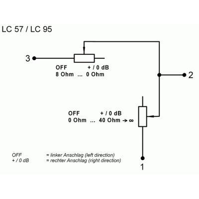 Visaton LC 57 volumeregelaar
