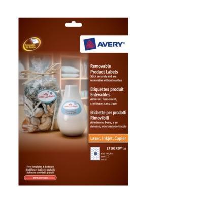 Avery L7101REV-20 etiket