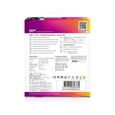 Silicon Power SP010TBPHD62SS3K externe harde schijven