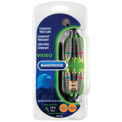 Bandridge BVL3305 component (YPbPr) videokabels