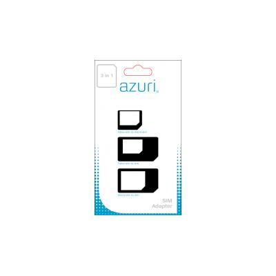 Azuri AZSIMCARDADAPT3IN1 SIM/flash memory card adapter