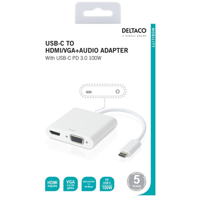 Deltaco USBC-HDMI16 interface hubs