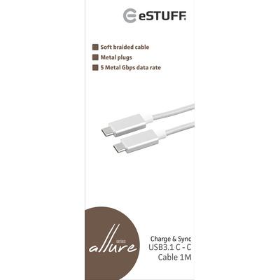 eSTUFF ES84051-1M-SILVER USB-kabels