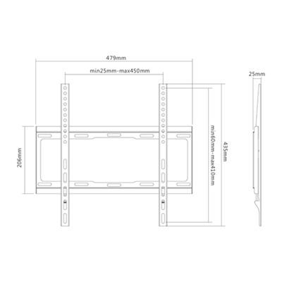SUNNE 32-55-EF flat panel muur steunen