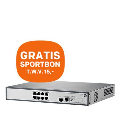 HP 1910-serie 8G PoE Netwerk Switch + GRATIS Sportbon t.w.v. 15,-