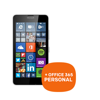 Microsoft Lumia 640 LTE wit + 1 jaar Office 365 Personal