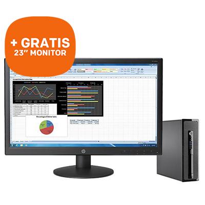 HP Desktop bundel: ProDesk 400 + GRATIS HP 23'' monitor